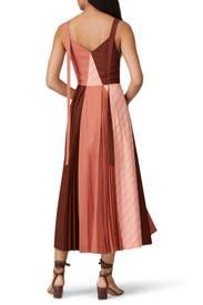Isobel Check Patchwork Dress by Rejina Pyo
