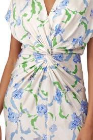 Brushstroke Floral Twist Dress by Prabal Gurung Collective