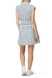 Striped Tie Waist Shirt Dress by Derek Lam 10 Crosby