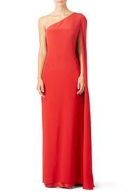Red Carolina Gown by Jill Jill Stuart