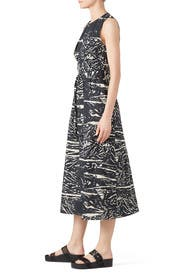 Printed Tie Wrap Dress by Proenza Schouler White Label