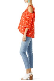 Floral Bronwen Blouse by Shoshanna