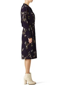 Navy Floral Shirtdress by VINCE.