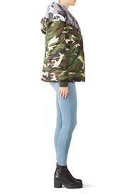 Camo Big Blanket Coat by Bacon