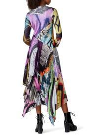 Grafitti Print Pleated Dress by Marques' Almeida
