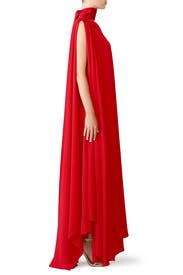 Red Draped Lula Gown by Osman
