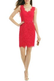 Watermelon Lace Dress by Shoshanna