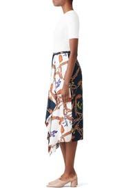Renzo Print Skirt by Tibi