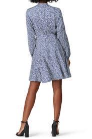 Blue Printed Dress by Derek Lam 10 Crosby