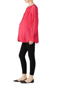 Rose Trace Maternity Top by FOR 2 by Ramy Brook