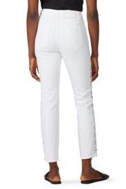 Lace Applique E-Cig Jeans by Jonathan Simkhai