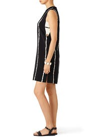 White Stripe Cut Shift Dress by Derek Lam 10 Crosby