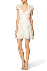 Scalloped Empire Dress by Marchesa Notte