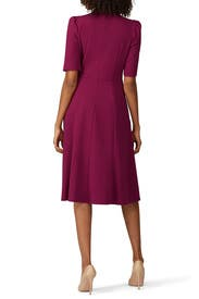 High Neck Flare Dress by Donna Morgan