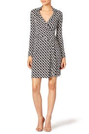Contrast Jeanne Two Dress by Diane von Furstenberg