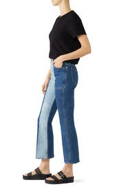 Two Tone Flared Jeans by Proenza Schouler White Label