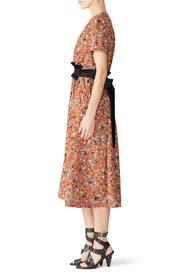 Floral Tie Waist Midi Dress by Cedric Charlier