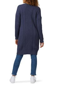 Blue Cable Cardigan by 525 America