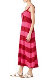 Knit Tie Front Dress by MDS Stripes