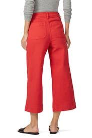 Americana Red Emmett Wide Leg Crop Pants by Madewell