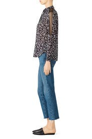 Lace Inset Floral Top by Michael Stars