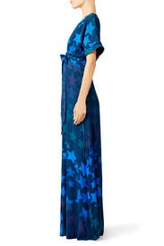 Navy Star Blast Tie Front Dress by Mara Hoffman
