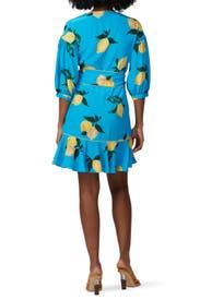 Lemon Printed Wrap Dress by Chinti & Parker