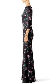 Purple Rose Trumpet Gown by Slate & Willow