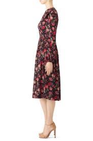 Black Floral Linda Dress by Alcoolique