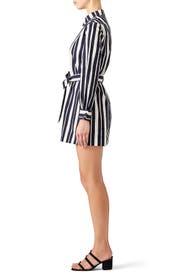 Striped Shirt Romper by Martin Grant