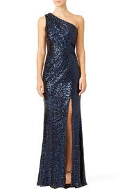 Navy Constellation Gown by Badgley Mischka