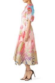 Pink Floral Asymmetric Dress by Peter Pilotto