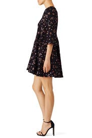Navy Dotted Floral Dress by Carven
