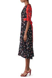 Floral Clusters Blaire Dress by Tanya Taylor