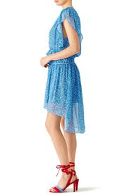 Blue Floral Dot Dress by The Kooples