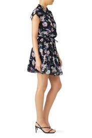 Black Floral Ollie Dress by Rebecca Minkoff