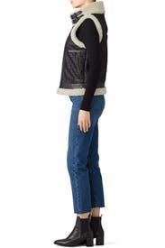 Danay Faux Fur Vest by Joie