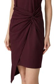 Burgundy Twist Front Dress by TROUVÉ