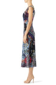 Multi Floral Patchwork Dress by Fuzzi