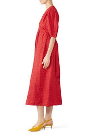 Red Avery Dress by M.i.h. Jeans