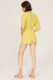 Mustard Tie Romper by Louna
