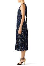 Blue Printed Georgette Dress by Proenza Schouler