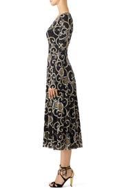 Scroll Floral Dress by Fuzzi