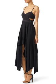 Black Cut Out Dress by Halston Heritage