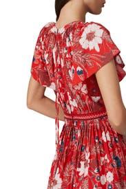 Floral Lottie Midi Dress by Ulla Johnson