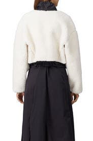 Cropped Faux Shearling Bomber Jacket by 3.1 Phillip Lim