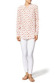 Berry Print Button Down by Equipment
