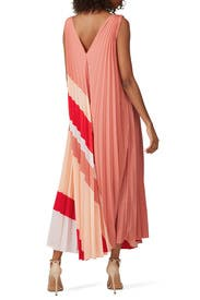 Pleated Printed Dress by Tome