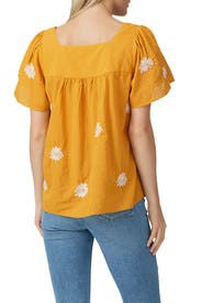 Floral Embroidered Butterfly Top by Madewell