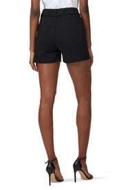 Black Sequin Denim Shorts by Philosophy di Lorenzo Serafini